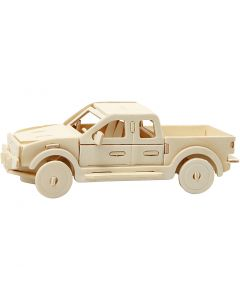 3D konstruktionsfigur, Pick-up truck, str. 19,5x8x12 cm, 1 stk.