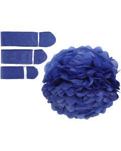 Papirpomponer, diam. 20+24+30 cm, 16 g, mørk blå, 3 stk./ 1 pk.