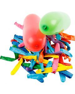 Balloner, aflange, L: 51+58 cm, 100 stk./ 1 pk.