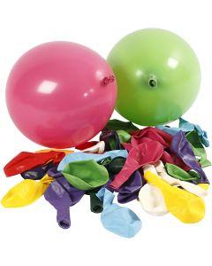 Balloner, runde, diam. 23 cm, 100 stk./ 1 pk.