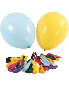 Balloner, diam. 43 cm, ass. farver, 50 stk./ 1 pk.