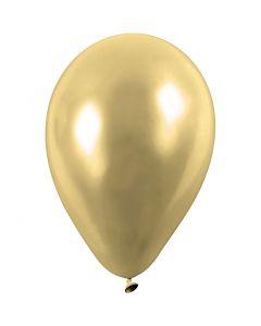 Balloner, runde, diam. 23 cm, guld, 8 stk./ 1 pk.