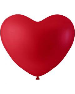 Balloner, hjerter, rød, 8 stk./ 1 pk.