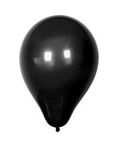 Balloner, diam. 23 cm, sort, 10 stk./ 1 pk.