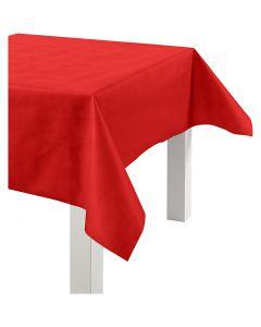 Dug af imiteret stof, B: 125 cm, 70 g, rød, 10 m/ 1 rl.