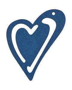 Asymmetrisk hjerte, str. 55x45 mm, mørk blå, 10 stk./ 1 pk.