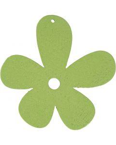 Blomst, str. 57x51 mm, limegrøn, 10 stk./ 1 pk.