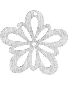 Blomst, diam. 27 mm, hvid, 20 stk./ 1 pk.