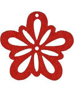 Blomst, diam. 27 mm, rød, 20 stk./ 1 pk.