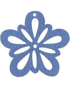 Blomst, diam. 27 mm, lyseblå, 20 stk./ 1 pk.