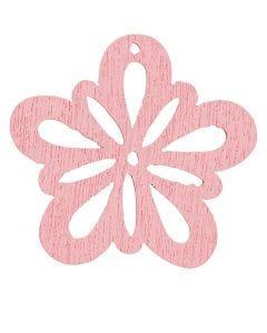 Blomst, diam. 27 mm, rosa, 20 stk./ 1 pk.