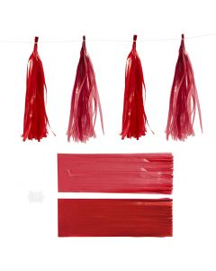 Kvast, str. 12x35 cm, 14 g, vinrød/rød, 12 stk./ 1 pk.