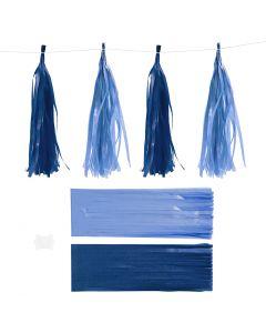 Kvast, str. 12x35 cm, 14 g, mørk blå/lys blå, 12 stk./ 1 pk.