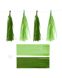 Kvast, str. 12x35 cm, 14 g, mørk grøn/lime, 12 stk./ 1 pk.