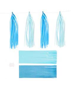 Kvast, str. 12x35 cm, 14 g, blå, lyseblå, 12 stk./ 1 pk.