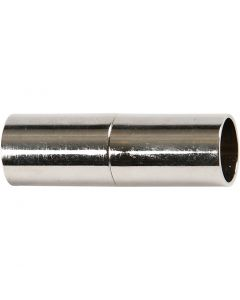 Magnetlås, L: 20 mm, hulstr. 5 mm, forsølvet, 2 stk./ 1 pk.