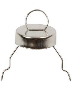 Ophæng, diam. 13 mm, hulstr. 5 mm, sølv, 25 stk./ 1 pk.