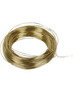 Messingtråd, tykkelse 0,6 mm, messing, 50 m/ 1 rl.