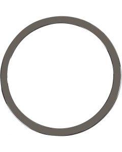 Smykkevedhæng, diam. 30 mm, mørk grå metallic, 2 stk./ 1 pk.