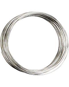 Memory wire, diam. 5 cm, tykkelse 0,7 mm, forsølvet, 1 stk.