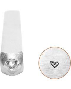 Prægestempel, Hjerte, L: 65 mm, str. 3 mm, 1 stk.