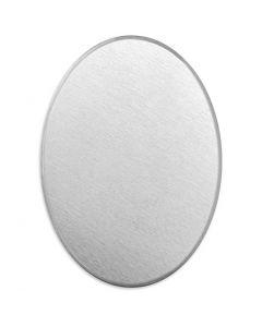 Tag, Oval, str. 18x13 mm, tykkelse 1,3 mm, aluminium, 15 stk./ 1 pk.