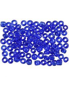 Rocaiperler, diam. 4 mm, str. 6/0 , hulstr. 0,9-1,2 mm, kobolt blå, 500 g/ 1 pk.