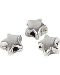 Ledperle, str. 5,5x5,5 mm, hulstr. 1 mm, forsølvet, 3 stk./ 1 pk.