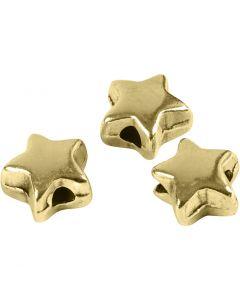 Ledperle, str. 5,5x5,5 mm, hulstr. 1 mm, forgyldt, 3 stk./ 1 pk.
