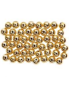 Voksperler, diam. 5 mm, hulstr. 0,7 mm, guld, 100 stk./ 1 pk.