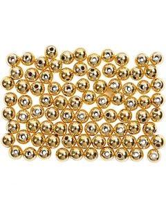 Voksperler, diam. 4 mm, hulstr. 0,7 mm, guld, 150 stk./ 1 pk.