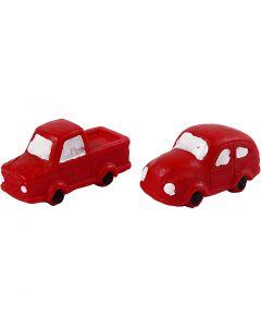 Minifigurer, H: 20 mm, L: 40 mm, rød, 2 stk./ 1 pk.