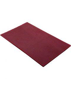 Bivoksplader, str. 20x33 cm, tykkelse 2 mm, vinrød, 1 stk.