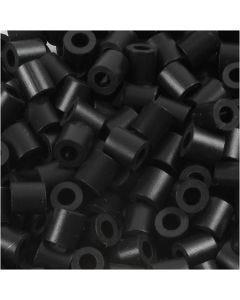 Rørperler, str. 5x5 mm, hulstr. 2,5 mm, medium, sort (32220), 6000 stk./ 1 pk.