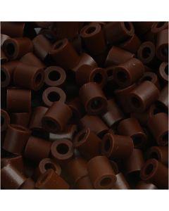 Rørperler, str. 5x5 mm, hulstr. 2,5 mm, medium, brun (32229), 1100 stk./ 1 pk.