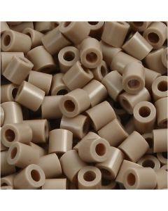 Rørperler, str. 5x5 mm, hulstr. 2,5 mm, medium, beige (32248), 6000 stk./ 1 pk.