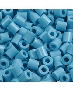 Rørperler, str. 5x5 mm, hulstr. 2,5 mm, medium, turkis (32256), 6000 stk./ 1 pk.