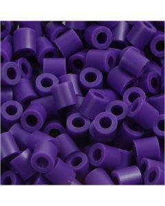Rørperler, str. 5x5 mm, hulstr. 2,5 mm, medium, mørk lilla (32234), 1100 stk./ 1 pk.