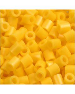 Rørperler, str. 5x5 mm, hulstr. 2,5 mm, medium, gul (32227), 1100 stk./ 1 pk.
