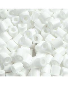 Rørperler, str. 5x5 mm, hulstr. 2,5 mm, medium, hvid (32221), 1100 stk./ 1 pk.
