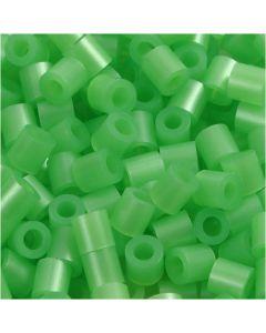 Rørperler, str. 5x5 mm, hulstr. 2,5 mm, medium, grøn perlemor (32240), 6000 stk./ 1 pk.