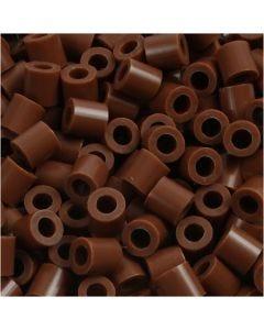 Rørperler, str. 5x5 mm, hulstr. 2,5 mm, medium, chokolade (32249), 1100 stk./ 1 pk.