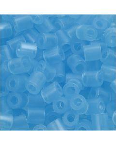 Rørperler, str. 5x5 mm, hulstr. 2,5 mm, medium, blå neon (32235), 6000 stk./ 1 pk.