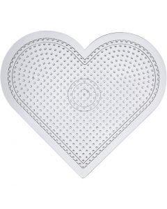 Perleplade, H: 15 cm, transparent, 1 stk.