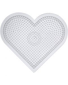 Perleplade, H: 15 cm, transparent, 10 stk./ 1 pk.