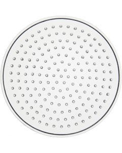 Perleplade, lille rund, diam. 8,5 cm, transparent, 1 stk.