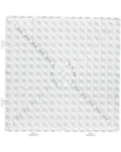 Perleplade , stor samlekvadrat, JUMBO, transparent, 1 stk.