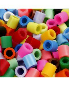 Rørperler, str. 10x10 mm, hulstr. 5,5 mm, JUMBO, suppleringsfarver, 3200 ass./ 1 pk.