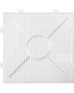 Perleplade, str. 15x15 cm, transparent, 2 stk./ 1 pk.