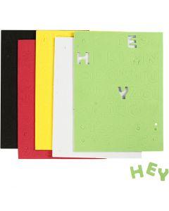 Mosgummi, str. 2-2,3 cm, ass. farver, 5 ark/ 1 pk.